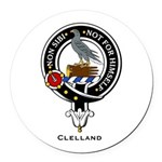 Clelland.jpg Round Car Magnet