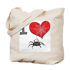 I heart spiders Tote Bag