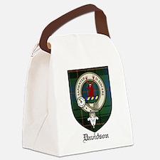 Davidson Clan Crest Tartan Canvas Lunch Bag