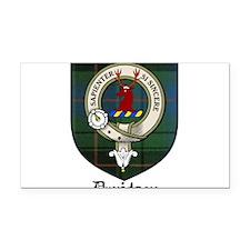 Davidson Clan Crest Tartan Rectangle Car Magnet