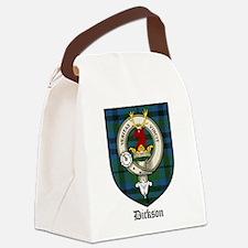 Dickson Clan Crest Tartan Canvas Lunch Bag