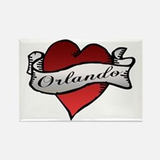 Orlando Tattoo Heart Rectangle Magnet