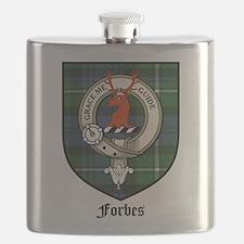 Forbes Clan Crest Tartan Flask