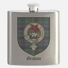 Graham Clan Crest Tartan Flask