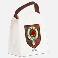 Grant Clan Crest Tartan Canvas Lunch Bag