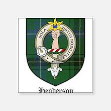 """Henderson Clan Crest Tartan Square Sticker 3"""" x 3"""""""