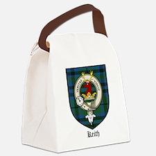 Keith Clan Crest Tartan Canvas Lunch Bag