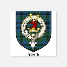 """Keith Clan Crest Tartan Square Sticker 3"""" x 3"""""""