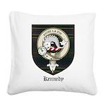 Kennedy Clan Crest Tartan Square Canvas Pillow