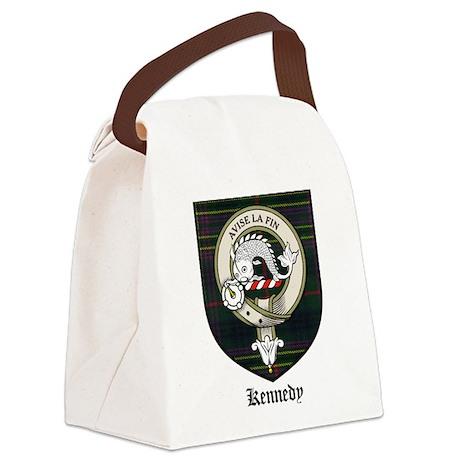 Kennedy Clan Crest Tartan Canvas Lunch Bag
