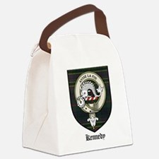 Kennedy Clan Crest Tartan Canvas Lunch Bag