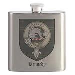 Kennedy Clan Crest Tartan Flask