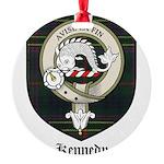 Kennedy Clan Crest Tartan Round Ornament