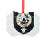 Kennedy Clan Crest Tartan Picture Ornament