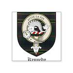 Kennedy Clan Crest Tartan Square Sticker 3