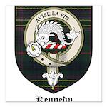 Kennedy Clan Crest Tartan Square Car Magnet 3
