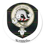 Kennedy Clan Crest Tartan Round Car Magnet