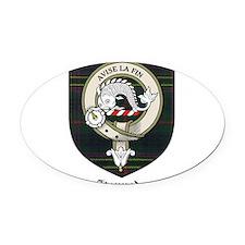 Kennedy Clan Crest Tartan Oval Car Magnet