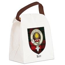 Kerr Clan Crest Tartan Canvas Lunch Bag