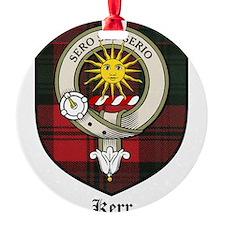 Kerr Clan Crest Tartan Ornament