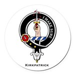 Kirkpatrick.jpg Round Car Magnet