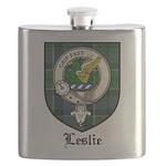 Leslie Clan Crest Tartan Flask