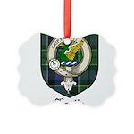 Leslie Clan Crest Tartan Picture Ornament