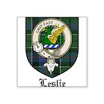 Leslie Clan Crest Tartan Square Sticker 3