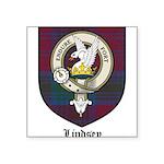 Lindsey Clan Crest Tartan Square Sticker 3