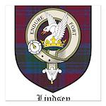 Lindsey Clan Crest Tartan Square Car Magnet 3
