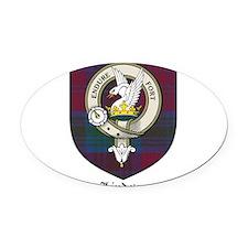 Lindsey Clan Crest Tartan Oval Car Magnet