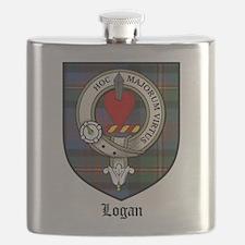 Logan Clan Crest Tartan Flask
