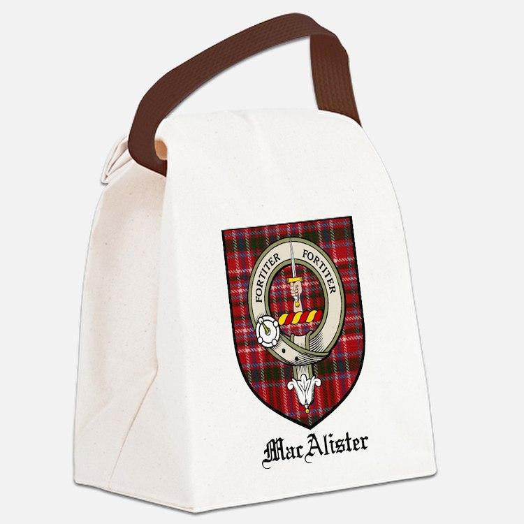 MacAlister Clan Crest Tartan Canvas Lunch Bag