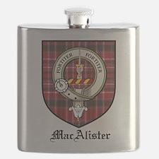 MacAlister Clan Crest Tartan Flask