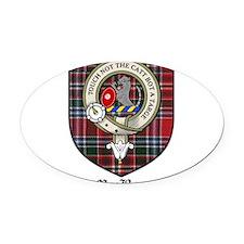 MacBean Clan Crest Tartan Oval Car Magnet