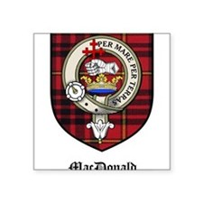 "MacDonald Clan Crest Tartan Square Sticker 3"" x 3"""