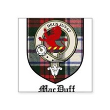 "MacDuff Clan Crest Tartan Square Sticker 3"" x 3"""