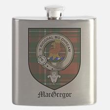 MacGregor Clan Crest Tartan Flask