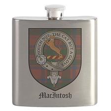 MacIntosh Clan Crest Tartan Flask