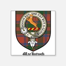 "MacIntosh Clan Crest Tartan Square Sticker 3"" x 3"""