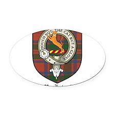 MacIntosh Clan Crest Tartan Oval Car Magnet