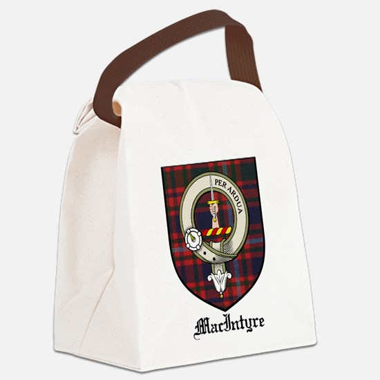 MacIntyre Clan Crest Tartan Canvas Lunch Bag
