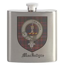 MacIntyre Clan Crest Tartan Flask