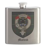 Macleod family crest Flask Bottles