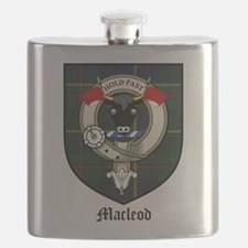 Macleod Clan Crest Tartan Flask