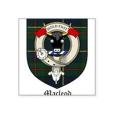 "Macleod Clan Crest Tartan Square Sticker 3"" x 3"""