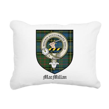 MacMillan Clan Crest Tartan Rectangular Canvas Pil