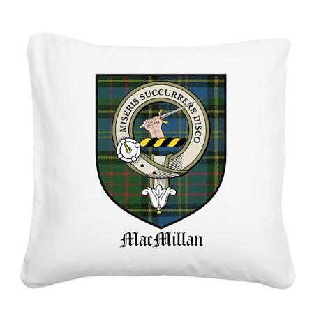 MacMillan Clan Crest Tartan Square Canvas Pillow