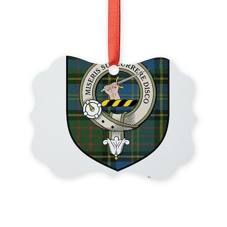 MacMillan Clan Crest Tartan Picture Ornament