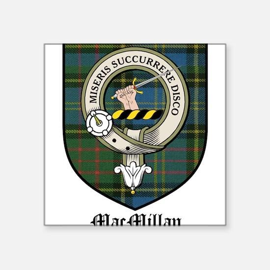 """MacMillan Clan Crest Tartan Square Sticker 3"""" x 3"""""""